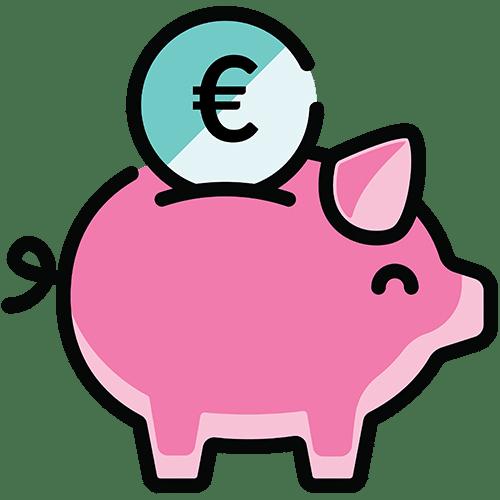 tijd voor besparen piggy bank
